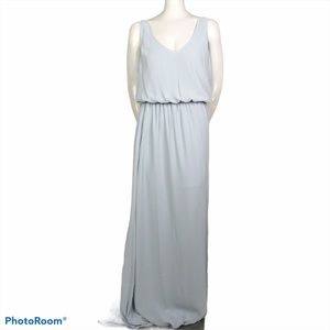SMYM Kendall Maxi dress Silver Luxe size L